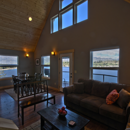 photo of living room and panoramic views